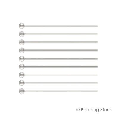 Various 925 Sterling Silver 1.5mm Ball Bead 24ga Head Pins Headpins Findings