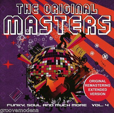 THE ORIGINAL MASTERS Funky Soul and much more vol 4 CD TRACKS EXTENDED NUOVO NEW