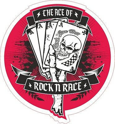 the Ace of  Rock n Race Aufkleber Sticker Rock n Roll Hot Rod Psycho RNRW V8