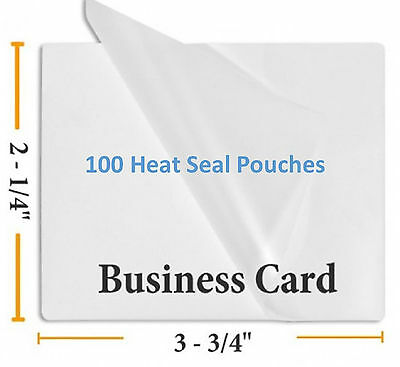 "5 Mil Business Card Size Heat Sealing Laminating Pouches 100  2.25"" x 3.75"""
