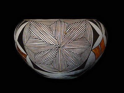Beautiful Vintage Polychrome Native American Acoma Olla in PERFECT Condition
