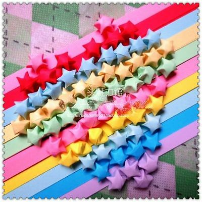 90 ORIGAMI LUCKY STAR PAPER  - 10 colors comb pack  for  creative hands