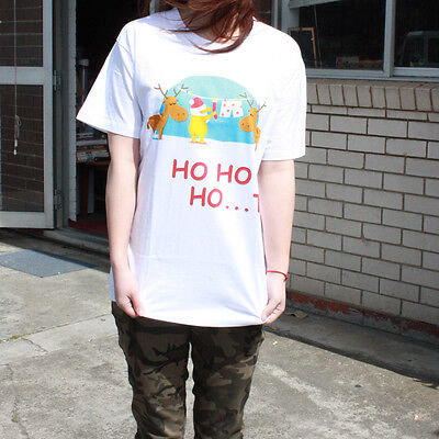 New Christmas Xmas Party Cotton Printed Tee Cloth T shirt Top Adult Kids Unisex