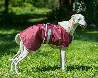 """WHIPPET AND LURCHER PUPPY WATERPROOF COAT , JACKET , RUG 12"""" to 19""""  NEW"""
