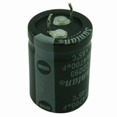 Snap-in Electrolytic Radial Capacitor 10000uF 16V 2Pack