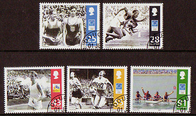 Isle Of Man 2004 Olympic Games Athens Set Of 5 Fine Used