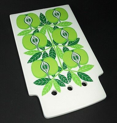 RARE Vtg 60s Arabia Finland Raija Uosikkinen Pomona Apple Ceramic Chopping Board