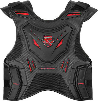 Icon Stryker black & red armored motorcycle vest
