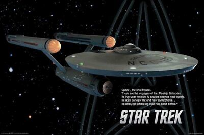 STAR TREK - ENTERPRISE POSTER - 24x36 SHRINK WRAPPED ORIGINAL SERIES SHIP 241143