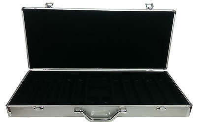 650+ PRO ALUMINUM Poker Chip Carrying Case Casino Design HOLDS OVER 650 CHIPS *