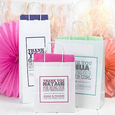 Personalised Wedding Gift Bags Paper Party Favours With Tissue