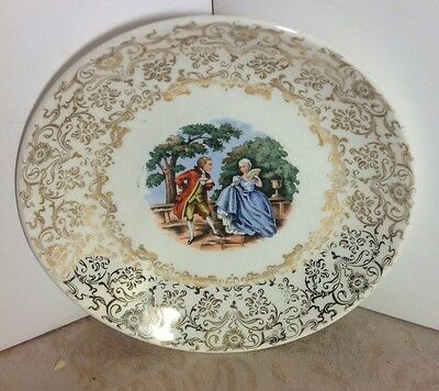 Vintage King Quality Hand Painted 22Kt Gold War. Made in USA Plates Dishes