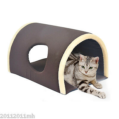 HOMCOM Tunnel Pet Bed Cave Dog Cat Small Animal Plush Condo Warm Washable