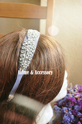 Bridal Wedding Sparkling Crystal Headband Tiara Headpiece Headwrap