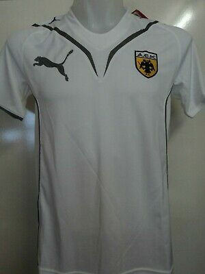 Aek Athens White Performance Tee By Puma Adults Size Small Brand New With Tags