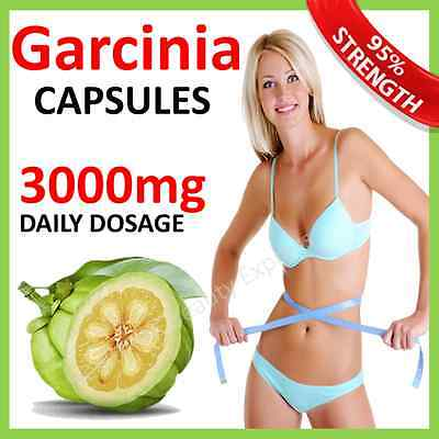 GARCINIA CAMBOGIA THERMOGENIC CAPSULES - 3000mg DAILY WEIGHT LOSS DIET PILLS