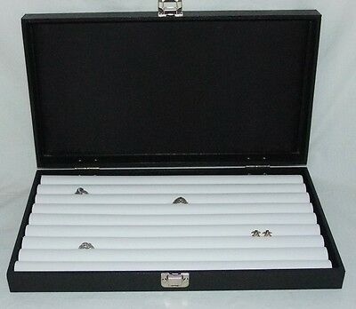 New 8 Row Tufted Ring Traveling Jewelry Display For 110+ Rings White