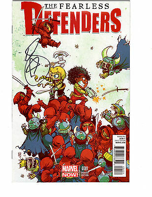 Fearless Defenders #1 SIGNED By Mark Brooks Skottie Young Baby Variant NM NOW!