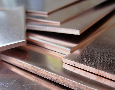 Copper Sheet 75 x 75 mm - 0.9 1.2 1.5 2.0 2.5 & 3.0 mm  Model & Jewellery Making