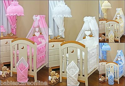 Lovely CANOPY DRAPE +CANOPY FREE STAND HOLDER / ROD 4 CRIB, COT OR COTBED/