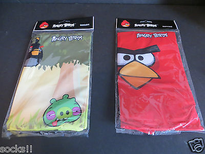2 Mead Angry Birds booksleeve elastic book cover protector  (1)  red (1) yellow