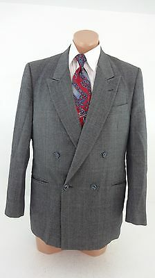 Mw Mens Gray Heavy Wool Tweed Suit Jacket Sport Coat Size 41 R Fabulous!