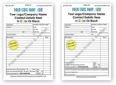 2 Part Small Customized Carbonless Paper Invoice Proposal Receipt Form Book Set