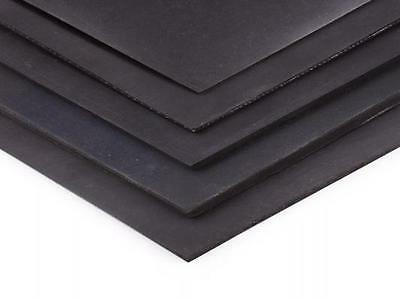 Black Rubber Solid Nitrile - 300mmX 214mmX6mm A4 SIZE FREE POST