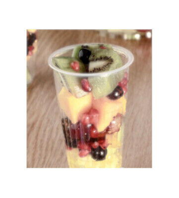 7oz PLASTIC SUNDAE CUPS WITH A LID WHICH CAN BE USED AS A BASE