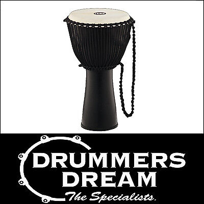 """Meinl Percussion 12"""" Journey Series Rope Tuned Djembe -Natural Black NEW"""