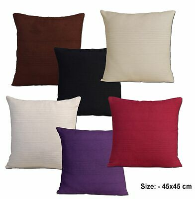 """Indian Cotton Rib Cushion cover 45cm x 45cm, 18"""" x 18"""" Inches - In 6 Colours"""