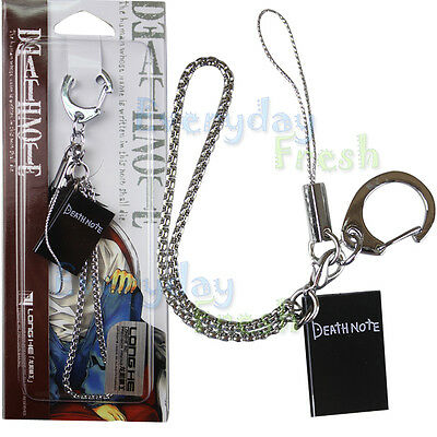 NEW Death Note L Notebook Mobile Cell Phone Strap Anime Cosplay Pendant