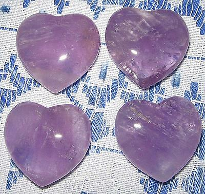 Awesome New 4Cm By 3.5Cm **amethyst** Puff Heart - Reiki Healing - A Grade