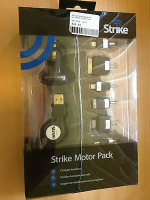 Strike Motor Pack Cradle , Car Charger , Charging Tips For Most Phones