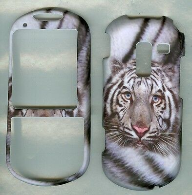 White Tiger Butterfly rubberized Samsung R455C SCH-R455C phone cover hard case