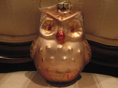 Beautiful Glass Owl Christmas Holiday Ornament Martha Stewart Collection