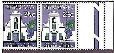 Wine  Grapes  Fruit  Nature - South Africa: Stamps With Double Perforation