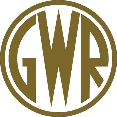 GWR Great Western Railway shirtbutton totem logo - vinyl decal sticker 10cm