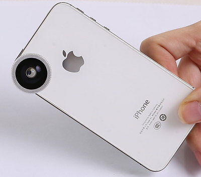 180°Fish Eye Lens for Apple iPhone 5S 5C 5 4S 4 Mobile iPod MacBook Air
