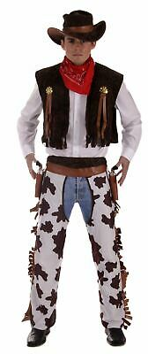 Cowboy Fancy Dress Costume Outfit Adult Size