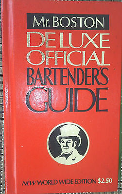 Rare 1974 Mr.Boston Deluxe Official Bartenders Guide
