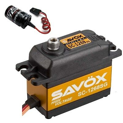 Savox SC-1268SG High Torque Steel Gear Digital Servo + Glitch Buster