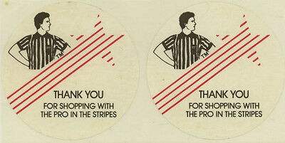 """Vintage Stickers: """"The Pro In Stripes"""""""