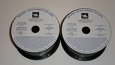 .030 E71T-GS Flux Cored Welding Wire - 4 pounds (2x2lbs)