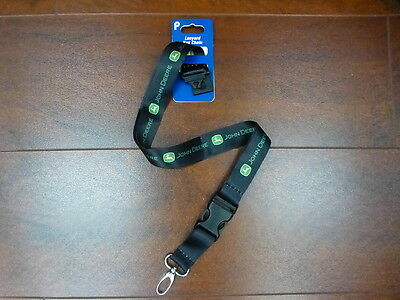 John Deere Lanyard Key Chain Licensed product by Plasticolor NEW
