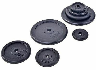 "Cast Iron weight plates barbell dumbbell weightlifting Gym  Plates 1"" weights"
