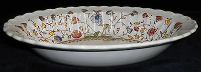 Vernon Kilns DESERT BLOOM PATTERN Oval Serving/Vegetable Bowl HAND PAINTED