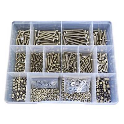 Qty 750 Hex Bolt Kit M3 M4 Stainless Steel Screw Nut Washer SS 304 #30