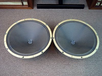 """Magnavox 15"""" Woofers - Vintage Matching Woofers with Alnico Magnets - Tested"""