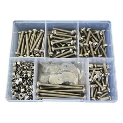 Qty 300 Pan Head Machine Screw Kit M6 Stainless Steel 304 Bolt Nut Washer #42